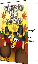 Thanksgiving Trick or Treat Funny Turkey Invitation