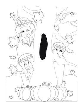 thanksgiving tree coloring pages - photo#29
