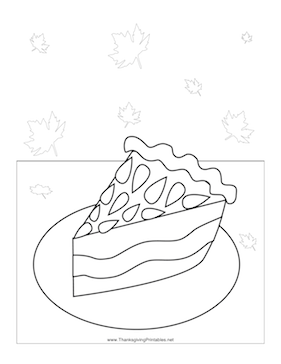 Thanksgiving Slice Pie Coloring Page