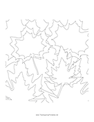 Leaves2 Coloring Page