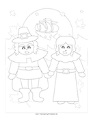 Pilgrims Coloring Page